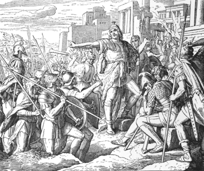 Judah Maccabee trumpets jerusalem